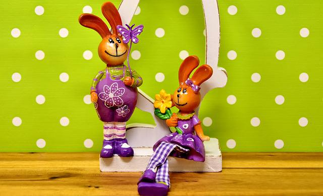 Easter, Easter Bunny, Pair, Spring, Easter Decoration