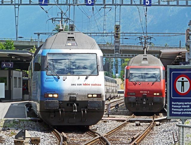 Interlaken, Eastern Railway Station, Exit, Intercity