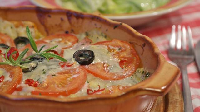 Eat, Cheese, Kohlrabi, Tomatoes, Au Gratin, Meal