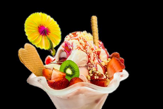 Eat, Ice, Ice Cream Sundae, Ice Cream, Cold, Fruit