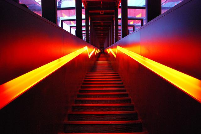Stairs, Input, Ruhr Museum, Illumination, Eat, Bill