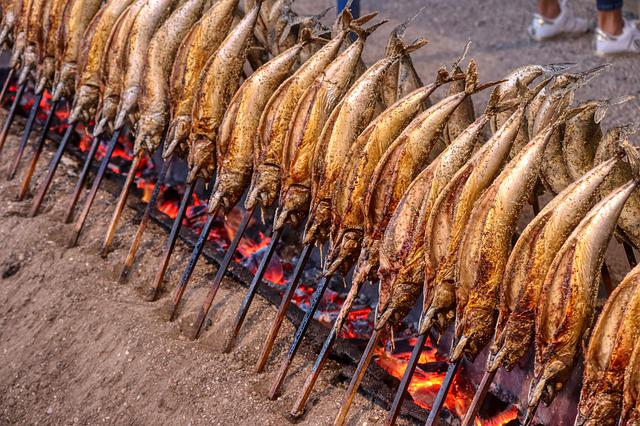 Fish, Eat, Grill, Mackerel, Food, Smoked, Fire, Munich