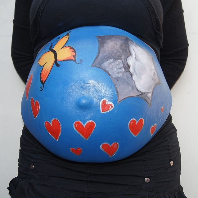 Belly Painting, Bellypaint, Baby, Pregnant, Echo