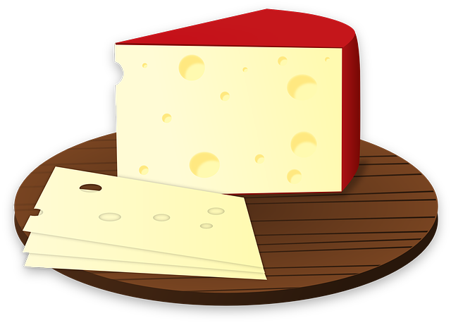 Cheese, Food, Slice, Lunch, Meal, Edam Cheese, Yellow
