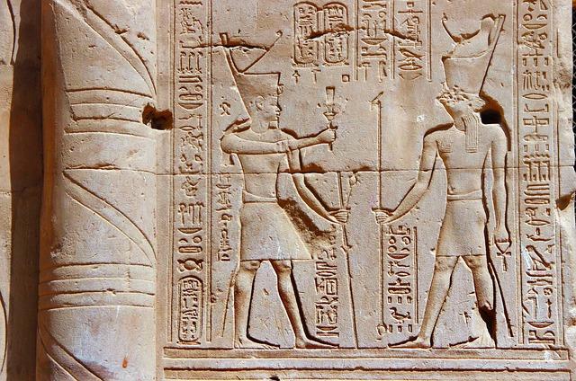 Egypt, Edfu, Temple, Engraving, Hieroglyphs, Pharaoh
