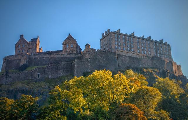 Edinburgh, Castle, Edinburgh Castle, Edinburg