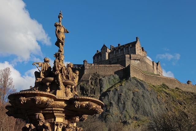 Edinburgh, Castle, Fontana