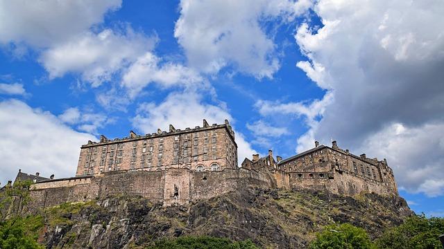 Scotland, England, Edinburgh, Castle, Fortress
