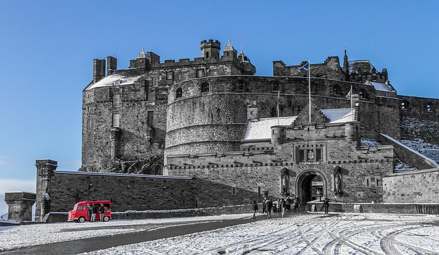 Edinburgh, Castle, Winter