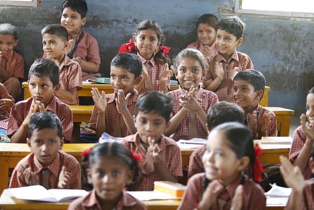 Happy Children, Education, Akshaya Patra, Smiling