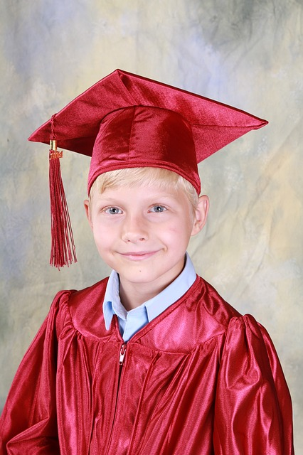 Boy, Graduation, Kindergarten, Education, Graduate