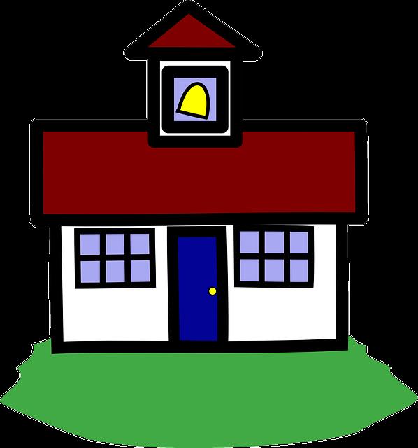 Schoolhouse, School, Education, Building, Learn
