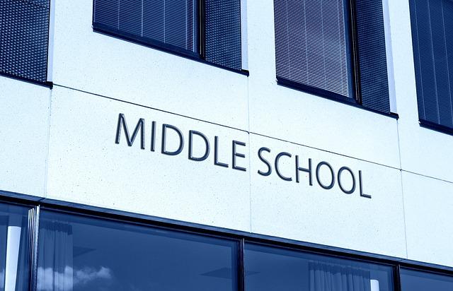 Middle School, Education, School, Study, Building