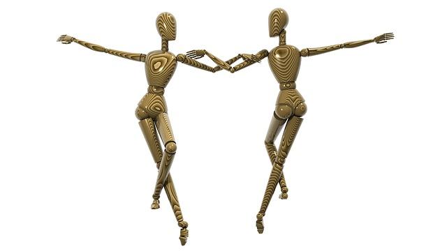 Dancing Couple, Wooden Effigies, Effigy, Dancing