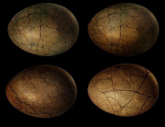 Egg, Eggs, Dinosaur, Dragon, Nest, Hatching, Cracked