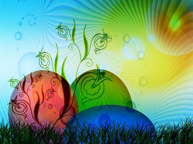 Easter, Egg, Spring, Tulips, Easter Eggs, Painted, Hare