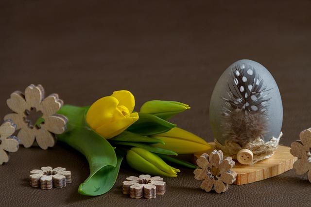 Easter, Flower, Easter Egg, Egg, Tulip, Yellow