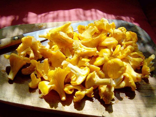Egg Mushroom, Yellow Mushroom, Food