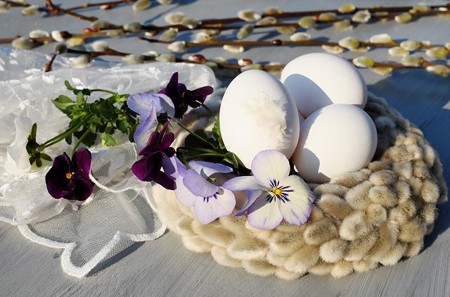 Easter Eggs, Egg, White, Easter Nest, Nest