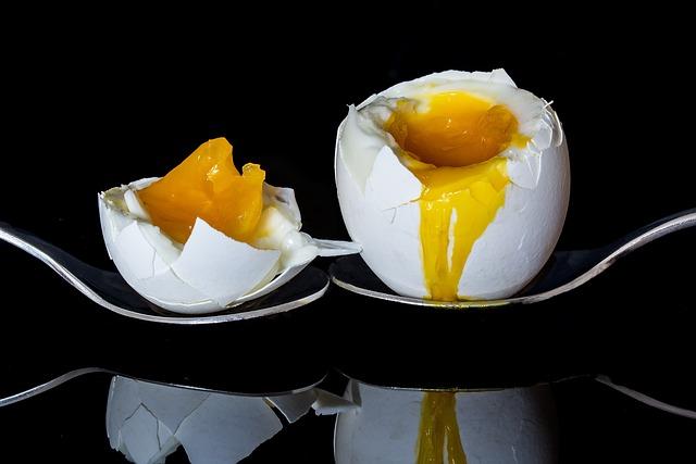 Egg, Bisected Egg, Boiled Egg, Yolk, Egg Yolk, Protein