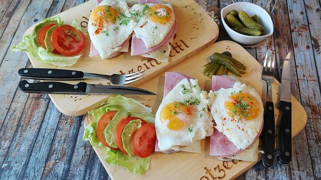 Bread, Ham, Tight Max, Egg, Fried, Yolk, Food, Eat