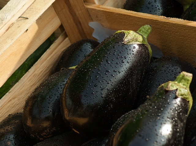 Eggplant, Market, Vegetables, Food, Vegetable Garden