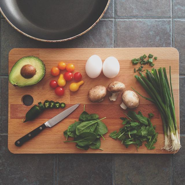 Avocado, Celery, Chopping Board, Cooking, Eggs, Food