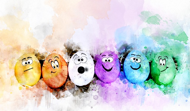 Eggs, Easter, Colorful, Watercolor, Easter Egg