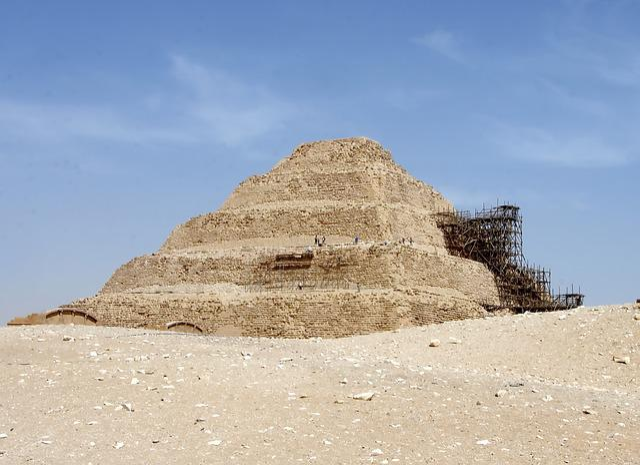 Egypt, Saqqara, Pyramid, Djoser, Step Pyramid