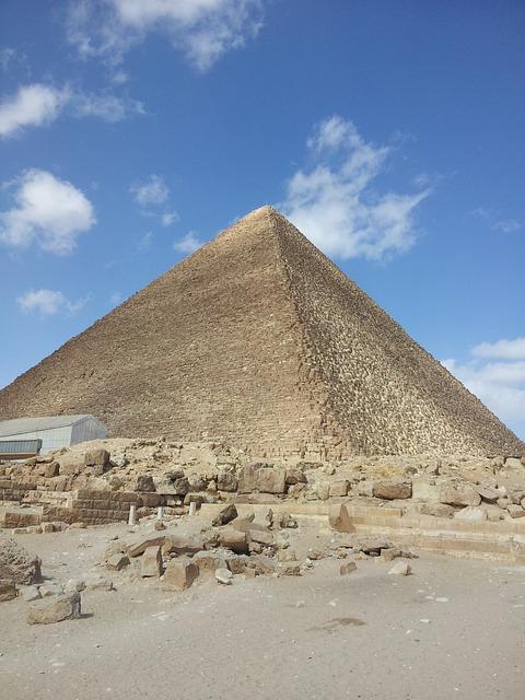 Egypt, Pyramids, Giza, Stone, Desert, Ancient