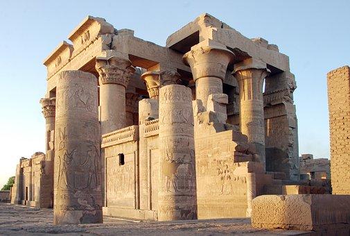 Egypt, Kom-ombo, Temple, Sobek, Haroëris, Divinities