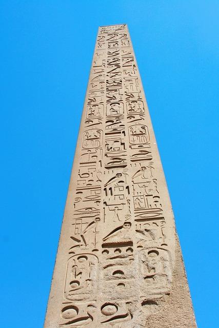 Egypt, Luxor, Karnak Temple, Obelisk, Hieroglyph