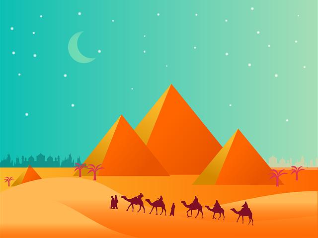 Pyramid, Desert, Sand, Camel, Middle Ease, Egypt, Sky