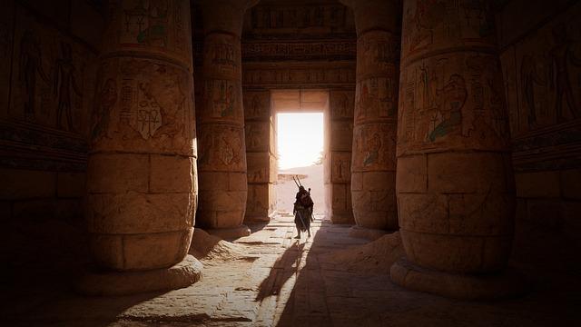 Egypt, Tomb, Columns