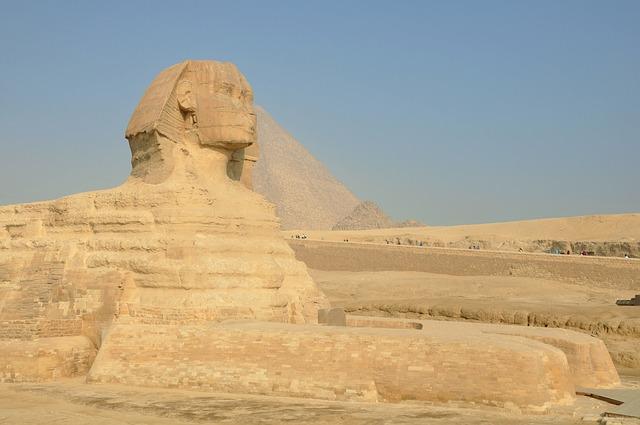 Egypt, Desert, Egyptian Temple, Giza, Pyramids
