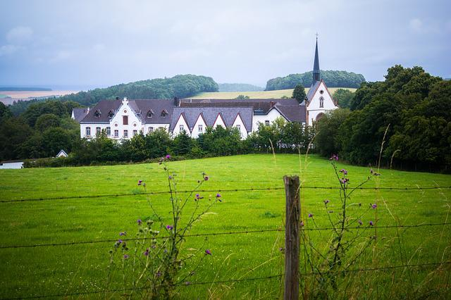 Monastery, Abbey, Church, Mariawald, Eifel, Trappists