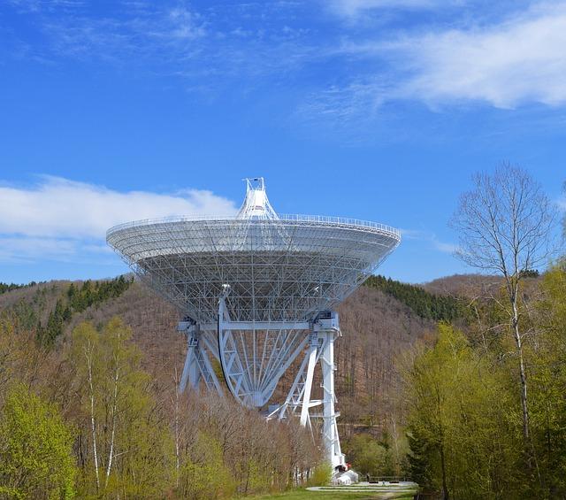 Radio Telescope, Effelsberg, Eifel, Space, Telescope
