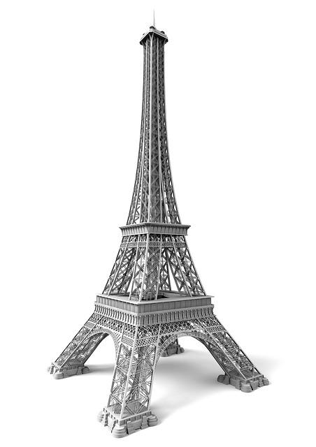Eiffel Tower, Paris, Eifel, France, Places Of Interest