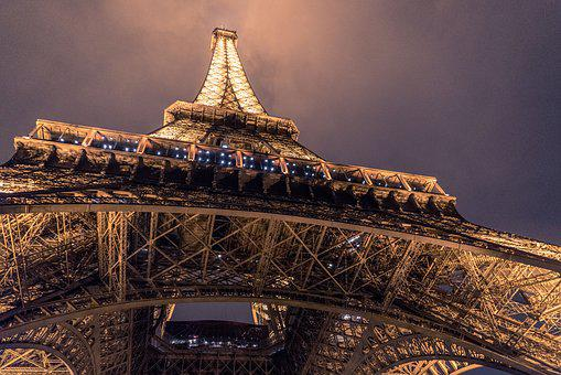 Architecture, City, Eiffel Tower, Landmark, Light