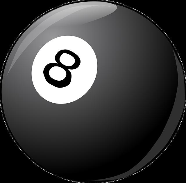 Billiard Ball, Billiard, Ball, Black Ball, Eight