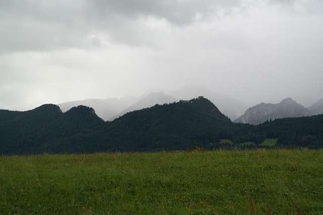 Allgäu, Eisenberg, Schlossberg, Bad Weather, Clouds