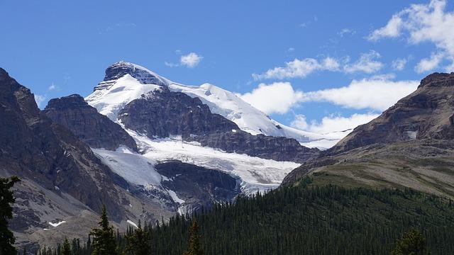 Eisfelder, Canada, Rocky Mountain, Jasper National Park