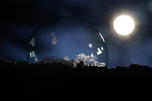 Eiskristalle, Soap Bubble, Crystals, Freeze, Cold