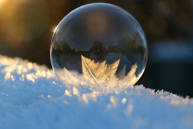 Soap Bubble, Crystals, Winter, Snow, Cold, Eiskristalle
