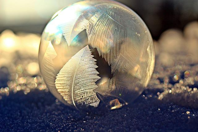 Soap Bubble, Frost Bubble, Eiskristalle, Snow, Winter