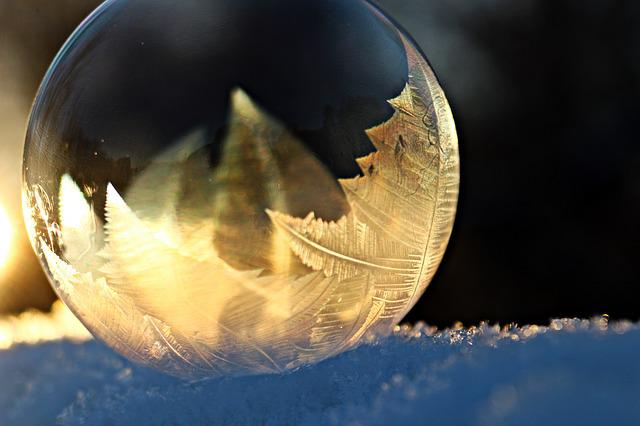 Eiskristalle, Soap Bubble, Frost, Frozen, Winter