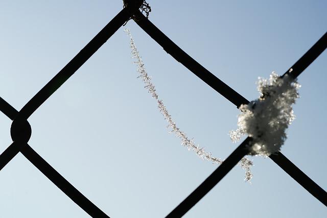 Spinnwebfaden, Hoarfrost, Eiskristalle, Frozen, Fence