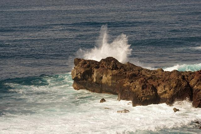 El Golfo, Lanzarote, Atlantic, Surf, Rocky Coast
