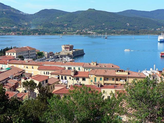 Italy, Elbe, Island, Portoferraio, Fortin, Port, Bay