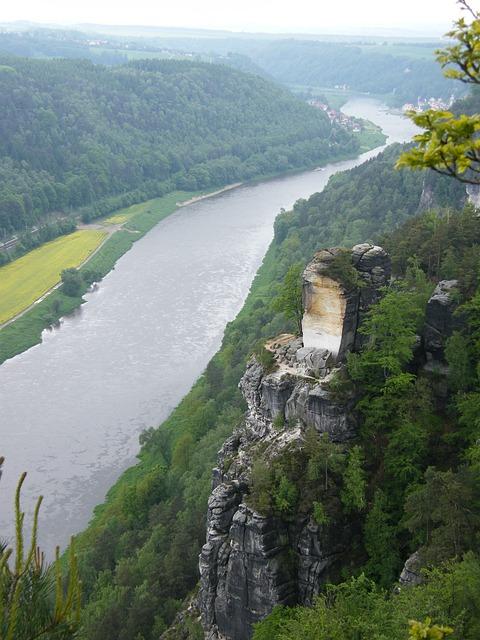 Bastei, Schrammsteine, Elbe Sandstone Mountains, Elbe